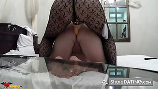 Hot girls have sexual fun, fucking each other with strapon