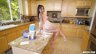 Hot asian pov in the kitchen