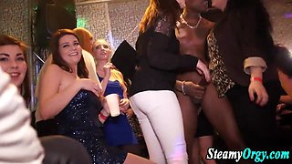 Cfnm party sluts sucking stripper cock