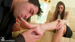 Foot mania with Tori Black.