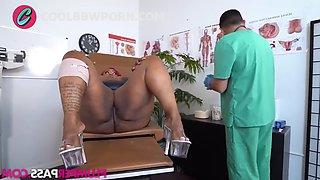 Bbw ebony fucking the doctor