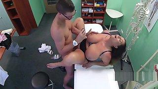 Doctor nailed massive tits BBW