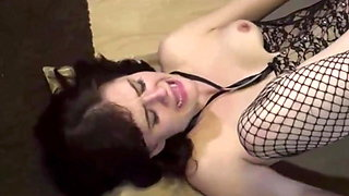 petite brunette gets fucked by her big dick roommate