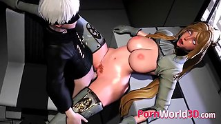 NieR Automata Animated Babes Gets a Nice Pounding from Behind