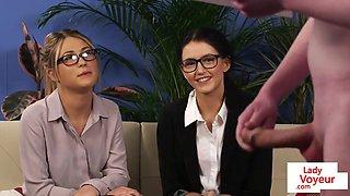 British voyeurs instruct sub in CFNM session