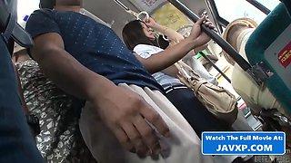 Japanese teen fucked on the bus