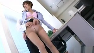Office Lady Getting Her Tits And Pussy Rubbed By Her Boss In The Office