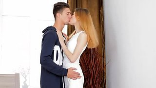Racy young russian maid Miriam gets drilled good