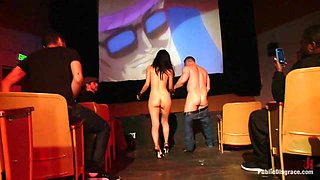 Japanese Whore Publicly Fucked In Dirty Movie Theater - PublicDisgrace