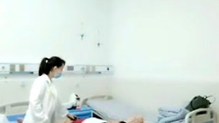 Asian Female Doctor Fucks Patient On Hospital Bed
