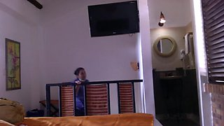 Maid at the hotel in Colombia
