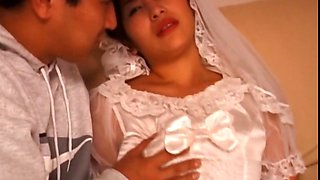 Asian 3some with bride getting cunt teased