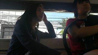 Nagpa boso sa jeep hot call center girl (watch full video)