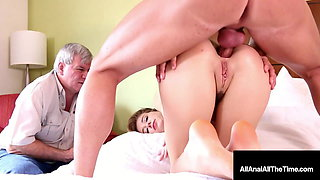 Step Daughter Haley Reed Gets Ass Fucked Next To Step Dad!