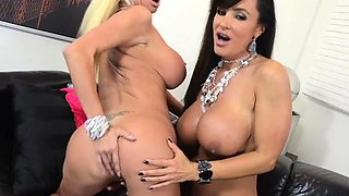 Nikita Von James shares a dildo with an insatiable chick