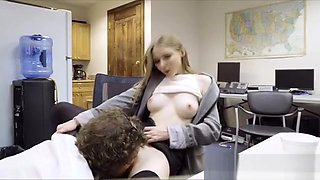 Perky secretary caught n fucked in office