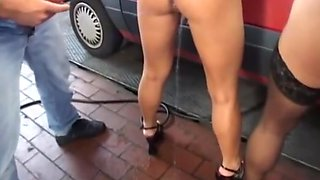 Piss sluts on the car service