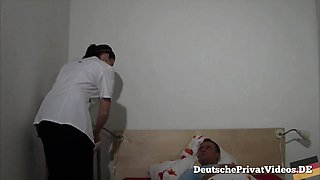 Fucking the horny German nurse