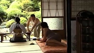 Wild Japanese housewife takes a hard fucking in the outdoors