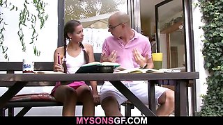 Young GF cheats with his BF\'s dad