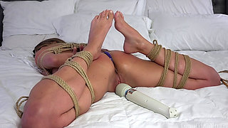 Young Girl Frog Tied Vibrated and Caned by Kidnapper