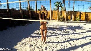 Legendary POV clip featuring big tittied hottie Ashley Adams