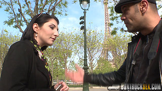Hot Mylene Johnson has Hardcore Public Sex in Paris