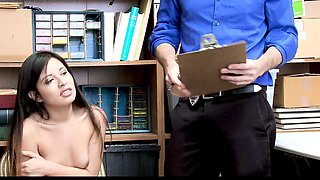 ShopLyfter - Officer Punished Price Swapping Teen With Cock