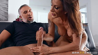 Big Titted MILF Plows Neighbor Dad