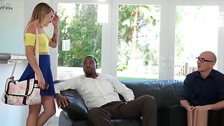 Cheating Girlfriend Gets Permission To Fuck Huge Black Cock