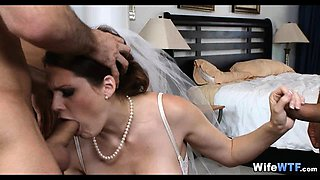 Bride Opens Her Holes on wedding day