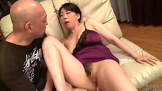 Old woman japanese milf threesome anal