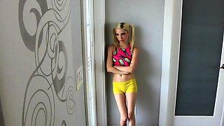 Sensational blonde girlfriend enjoys an extreme action