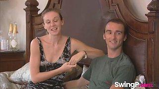 sexy swingers having fun together