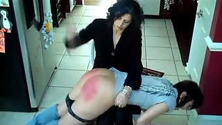 Audrey is well spanked