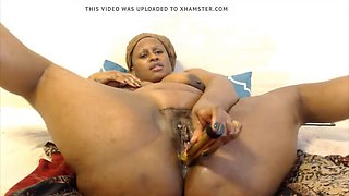 African fat mom with huge ass fucking twat