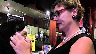 Tattooed taboo stepmom pussyrubbed by teen