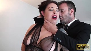 PASCALSSUBSLUTS - Curvy Nikki Gold fed jizz after domination