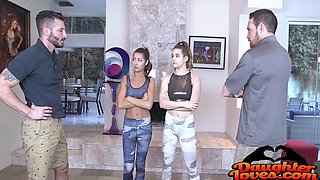 lily adams, devon green in swaping gym pussy