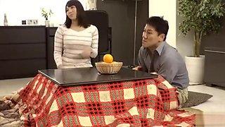 japanese cute house wife fuckin on the Bus and Man is lucky god