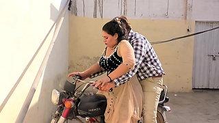 Sadaf aunty's sister hHumaira. Hot bike ride with new driver