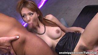 Yuu Matsuyama Asian babe enjoys wicked threesome