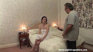 spanking his daughter hard