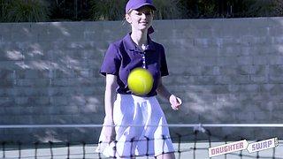 Tennis chick Nadya Nabakova takes part in crazy group sex scene