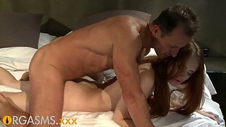 Hardcore passion with a beautiful redhead