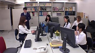 Japanese Group Sex In Office