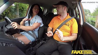 Fake driving school candi kayne returns just for cock