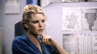 Provocative brunette secretary seduces her boss