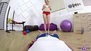 Blonde slut services a meaty baka VR porn