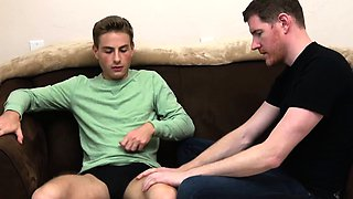 FamilyDick - Sexy uncle fingers and strokes his young nephew